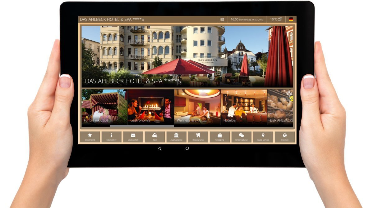Digital guest directory iQ Tab for hotels – Betterspace
