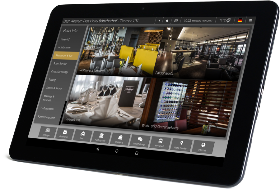 The digital guest directory the iQ tab in your hotel design