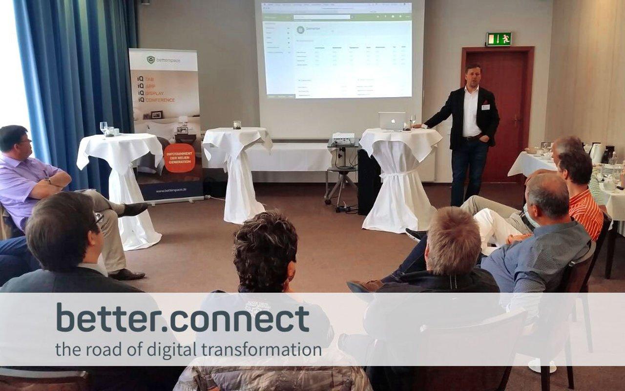 Betterspace im Gespräch mit Hoteliers beim Netzwerktag better.connect - the road of digital transformation