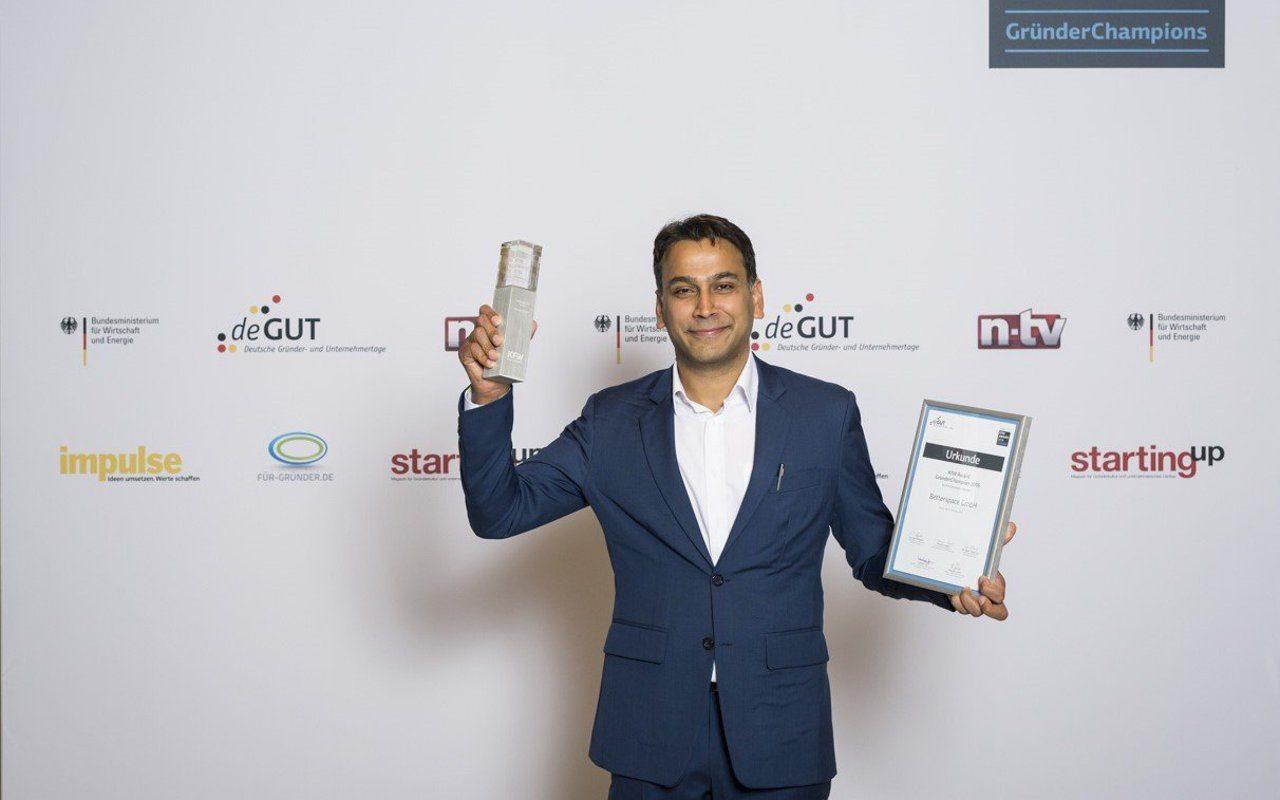 Betterspace erhält Handelsblatt Energy Award und KfW Award GründerChampions 2016