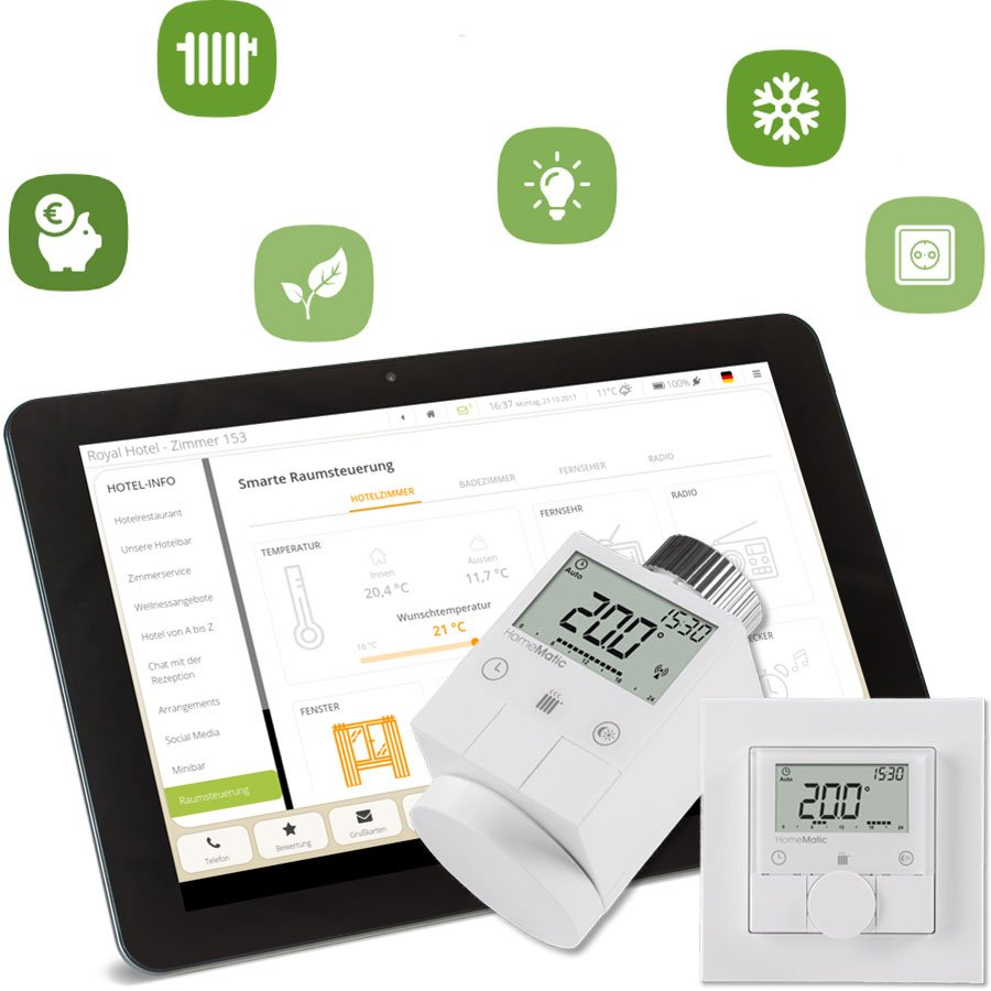 Smart Home System iQ Roomcontrol für Hotels