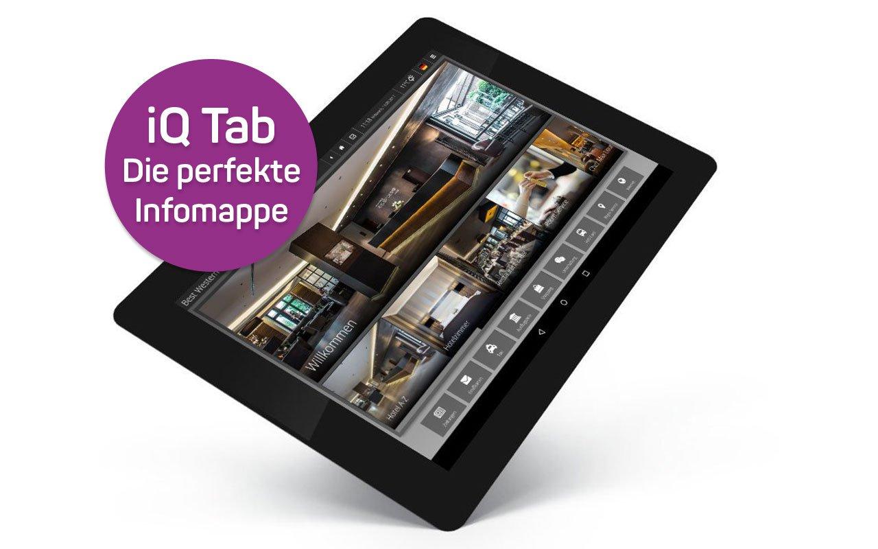 Digitale Gästemappe iQ Tab im Design des Best Western Plus Hotel Böttcherhof