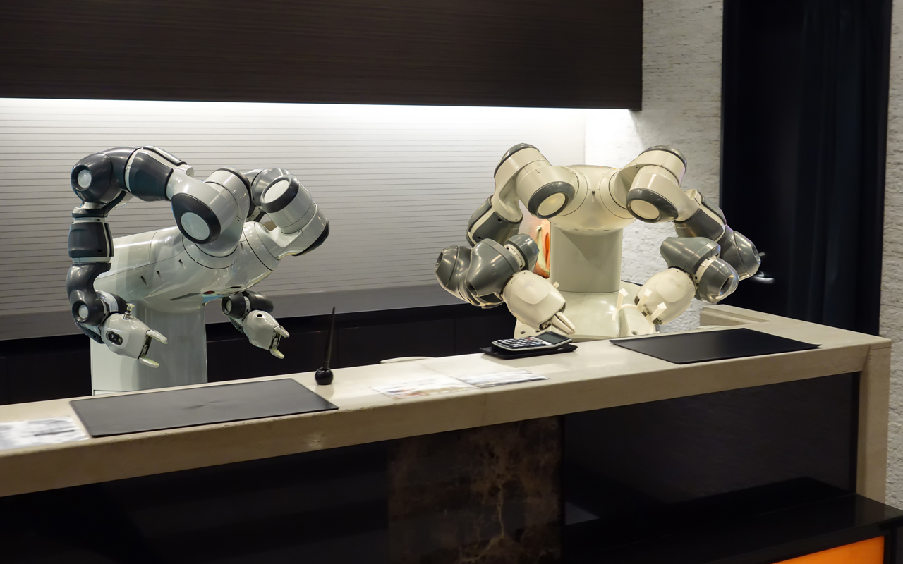 Robots at the reception desk