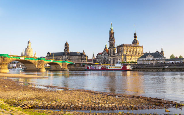 Dresden, Germany – April 19, 2019: Cityscape of Dresden at Elbe