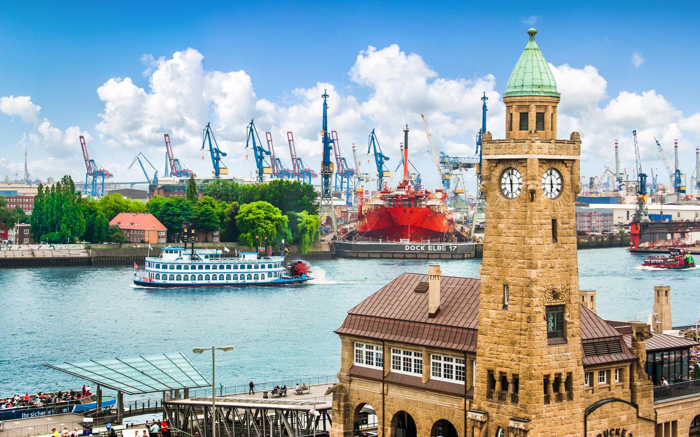 Hamburger Hafen - Landungsbrücken