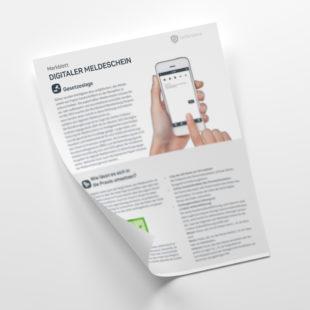 Customer - Merkblatt: Der digitale Meldeschein