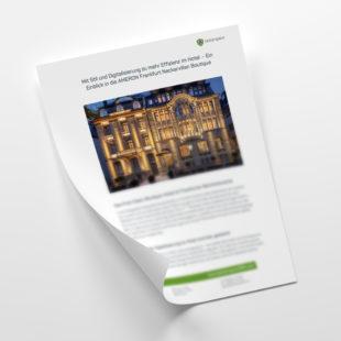 Customer - Erfahrungsbericht: Mit Digitalisierung mehr Effizienz in der Ameron Neckarvillen Boutique Frankfurt